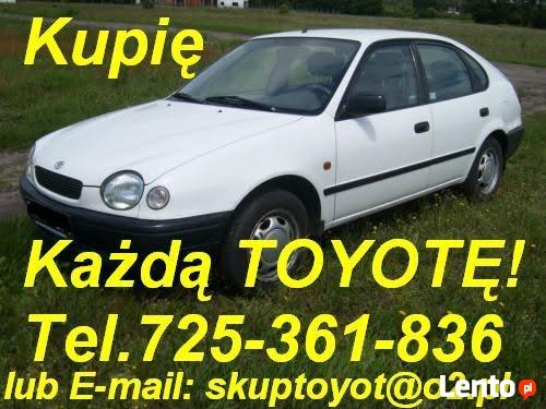 Kupię Toyotę Avensis I i II  Corolla Yaris
