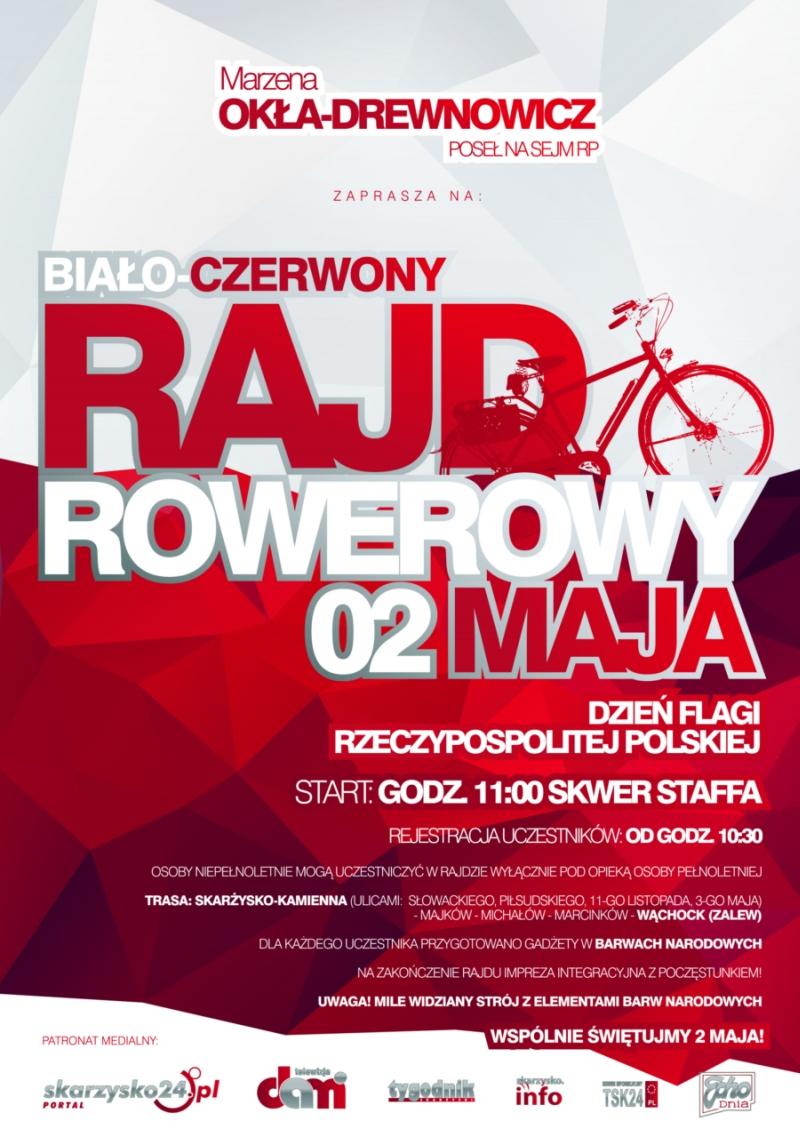 Biało-Czerwony Rajd Rowerowy - Skwer Staffa - 02.05.2015