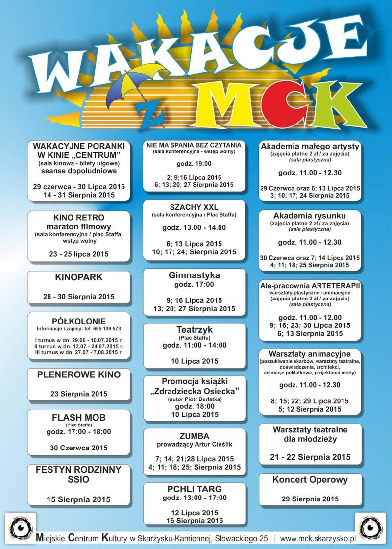 WAKACJE 2015 z MCK