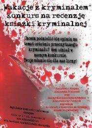 Wakacje z kryminałem – konkurs na recenzję książki kryminalnej