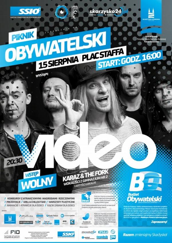 Pikinik Obywatelski – występ zespołu Video – Plac Staffa – 15.08.2015