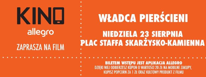 Kino Allegro – Władca Pierścieni – Plac Staffa – 23.08.2015