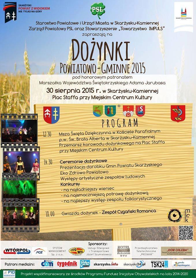 Dożynki Powiatowo-Gminne 2015 – Plac Staffa – 30.08.2015