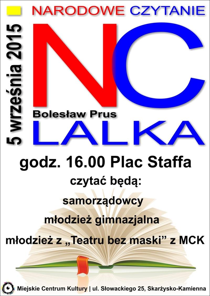 """Narodowe czytanie – """"Lalka"""" Bolesława Prusa – MCK – 05.09.2015"""