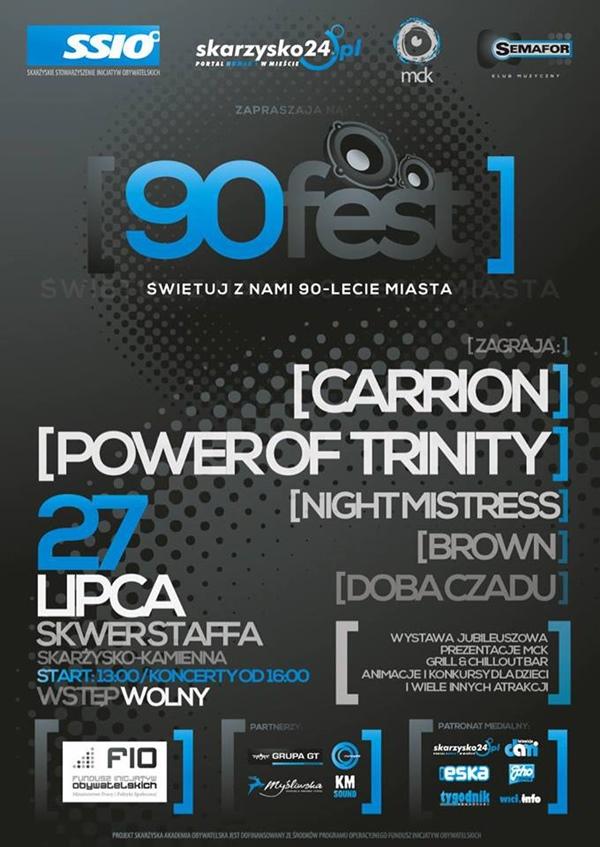 90 FEST – Carrion - Power of Trinity - Night Mistress - Brown - Doba Czadu