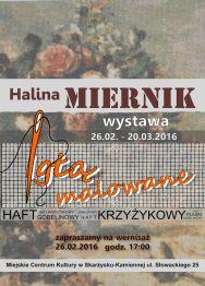 """Wystawa Haliny Miernik """"Igłą malowane"""" – wernisaż"""