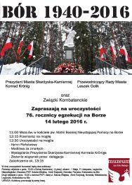 Uroczystości z okazji 76. rocznicy egzekucji na Borze