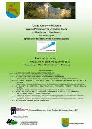 Spotkanie informacyjno-konsultacyjne dla pracodawców w Bliżynie