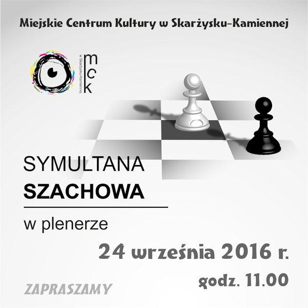 Symultana szachowa w plenerze – Plac Staffa przy MCK – 24.09.2016