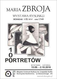 100 PORTRETÓW – wystawa rysunku Marii Zbroi