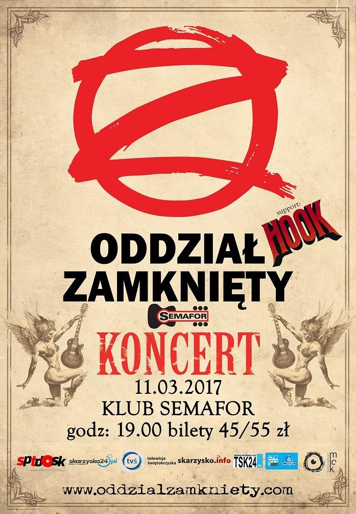 Oddział Zamknięty – koncert – Klub Semafor – 11.03.2017