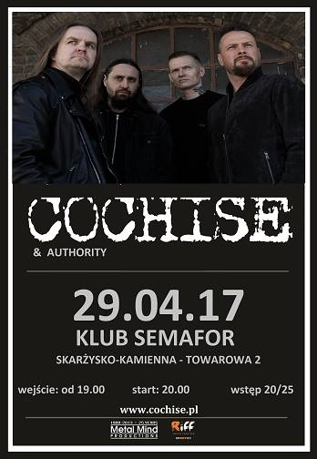 Cochise + Authority – Klub Semafor – 29.04.2017
