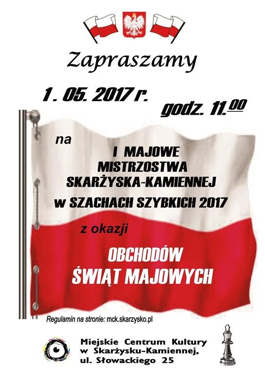I Majowe Mistrzostwa Skarżyska-Kamiennej w Szachach Szybkich – MCK – 01.05.2017