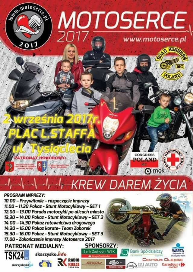 Motoserce 2017 – Plac Staffa – 02.09.2017