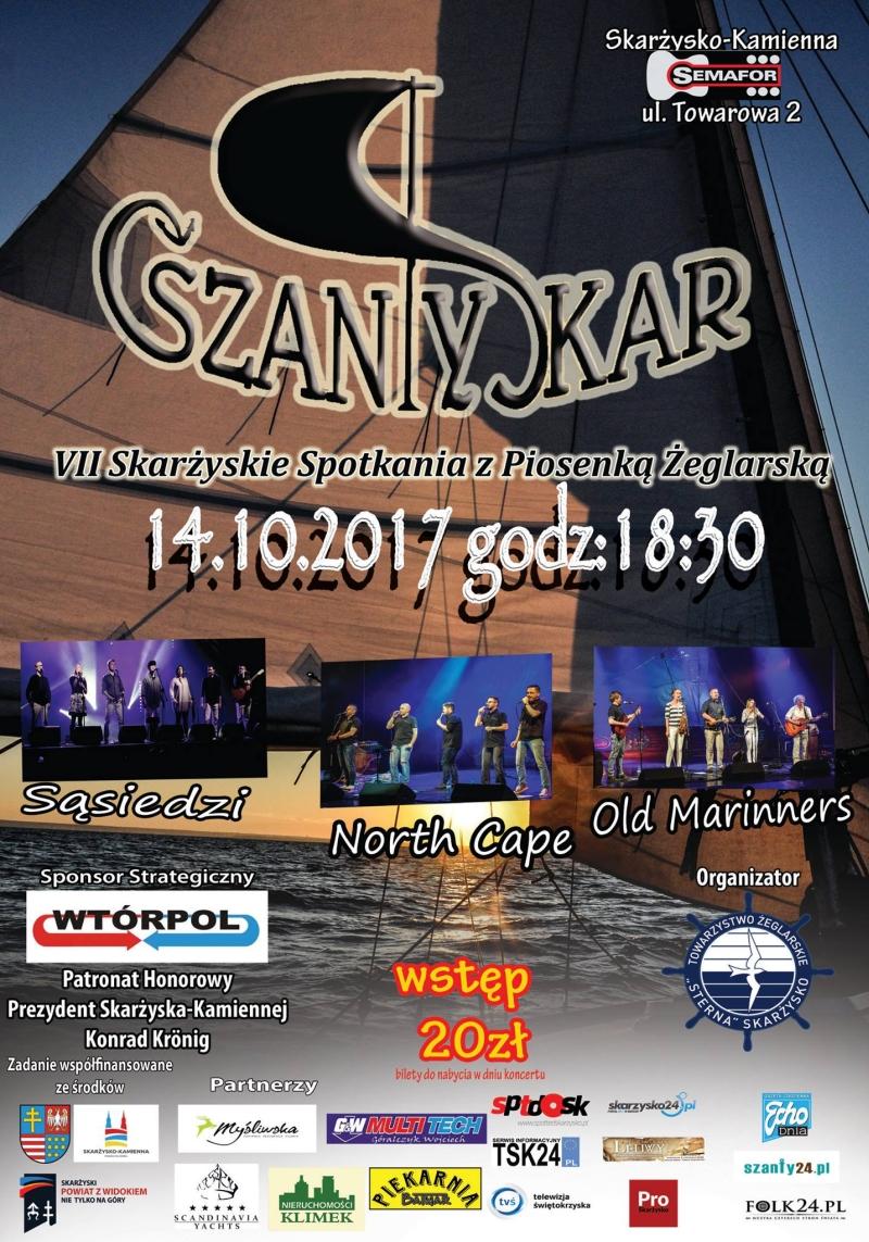 VII Skarżyskie Spotkania z Piosenką Żeglarską SzantySkar – Klub Semafor – 14.10.2017
