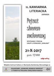 """KAWIARNIA LITERACKA ZAPRASZA... """"Pejzaż słowem malowany"""