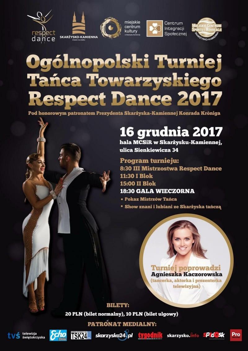 Ogólnopolski Turniej Tańca Towarzyskiego Respect Dance 2017 – hala MCSiR – 16.12.2017