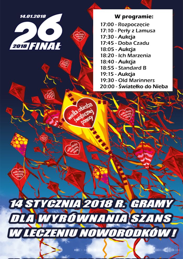 26 Finał WOŚP w MCK – 14.01.2018