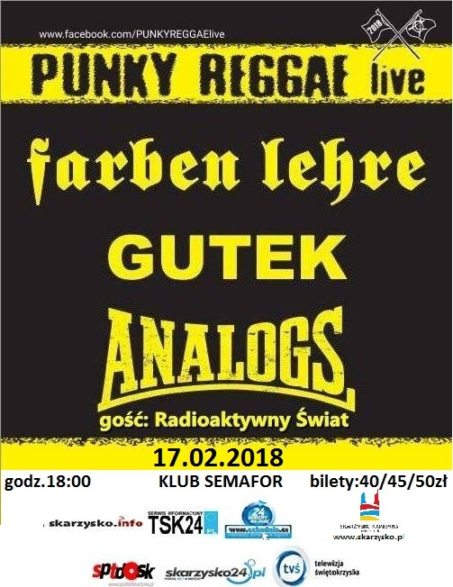 Punky Reggae live 2018 – Klub Semafor – 17.02.2018