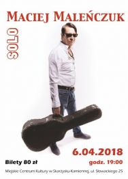 Maciej Maleńczuk SOLO  – koncert