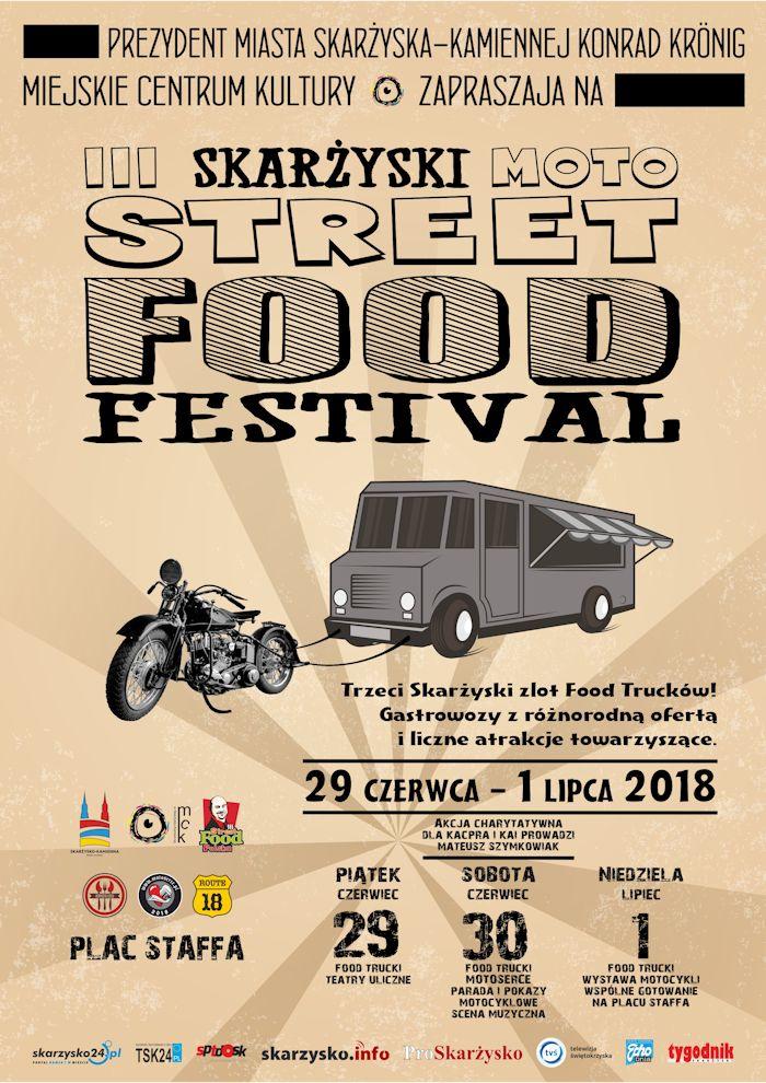 Trzeci Skarżyski Moto Street Food Festival – Plac Staffa – 29.06-01.07.2018