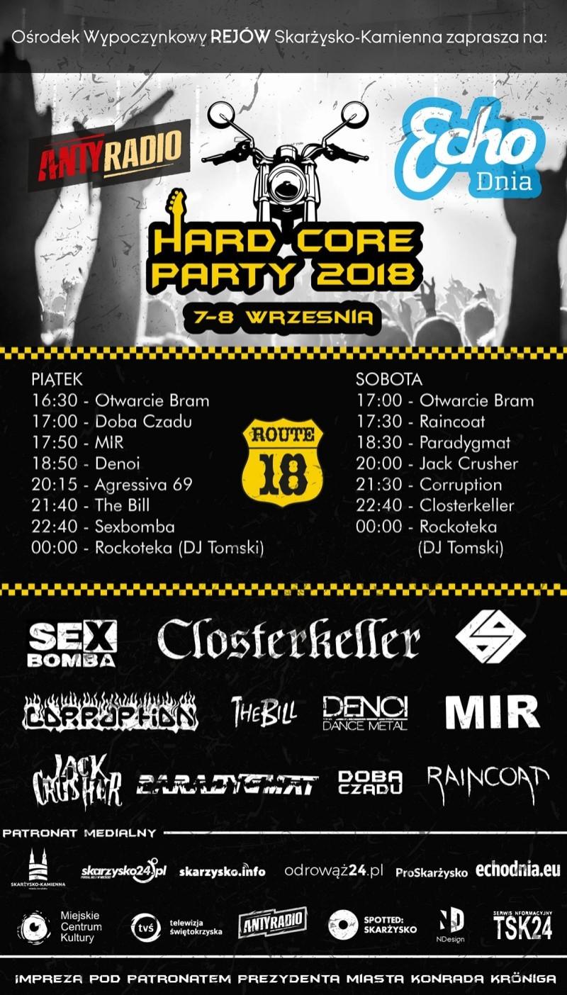 Hard Core Party 2018 – Ośrodek Wypoczynkowy Rejów – 7-9.09.2018