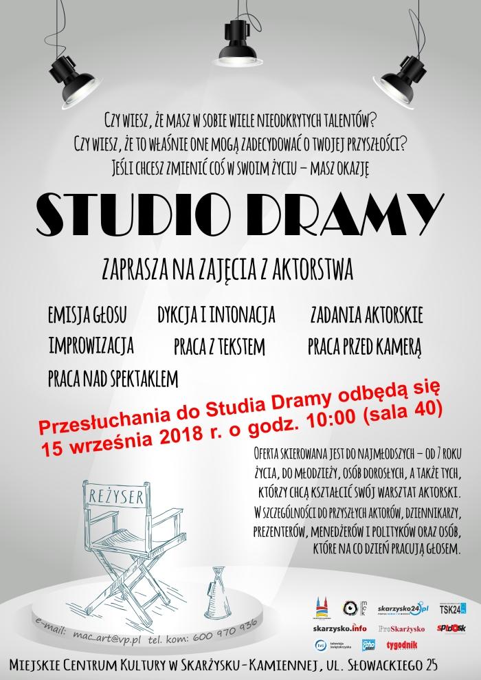 Przesłuchania do Studia Dramy – MCK – 15.09.2018