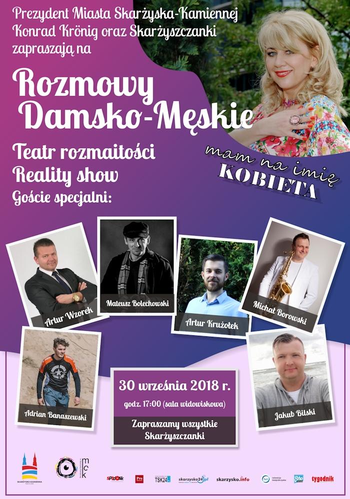 Rozmowy Damsko-Męskie – MCK – 30.09.2018