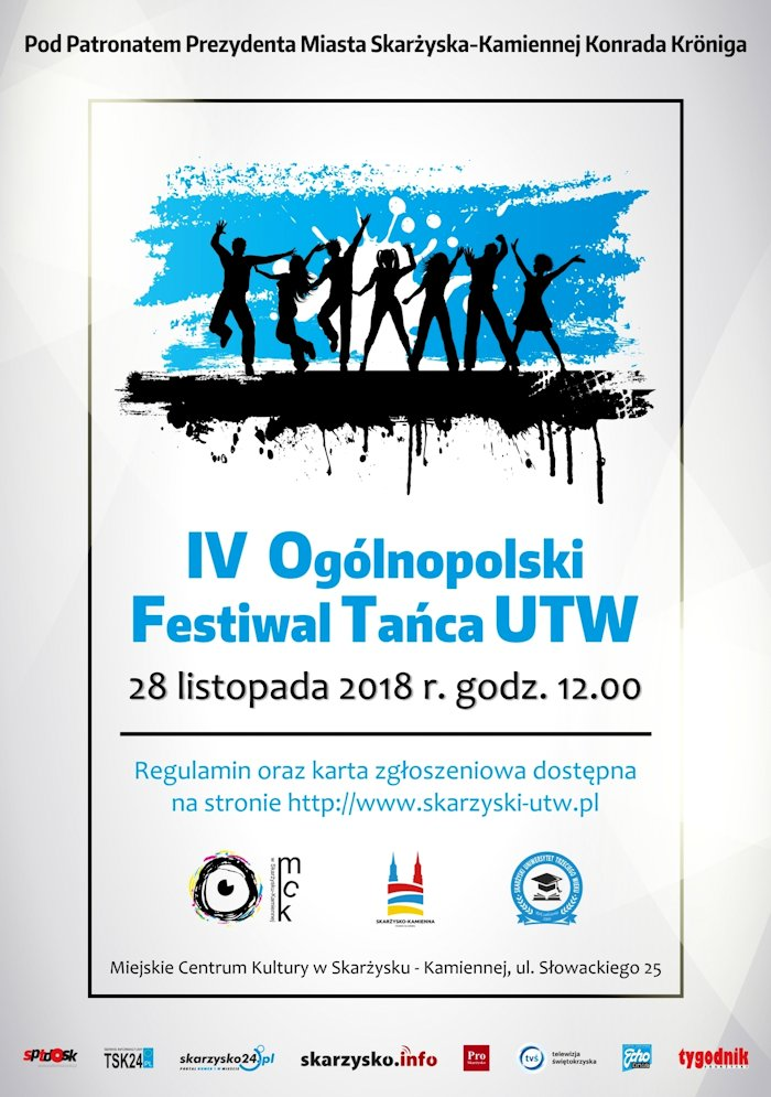 IV Ogólnopolski Festiwal Tańca UTW – MCK – 28.11.2018