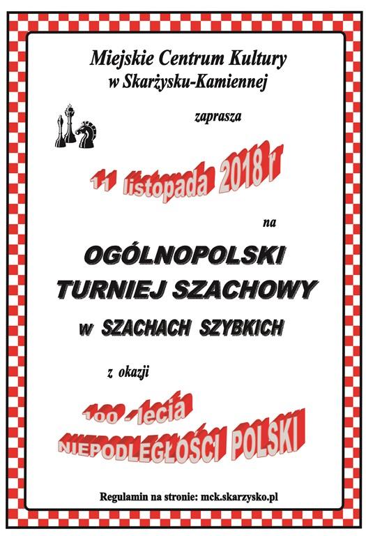 Otwarty Ogólnopolski Turniej Szachowy w Szachach Szybkich – MCK – 11.11.2018