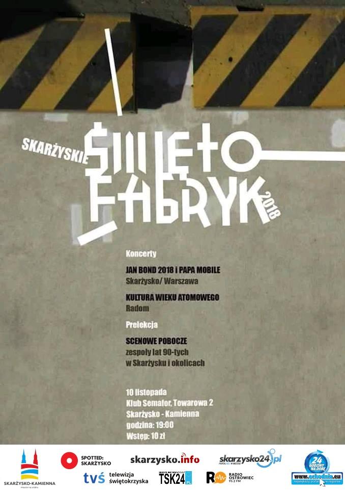 Skarżyskie Święto Fabryk 2018 – Klub Semafor – 10.11.2018