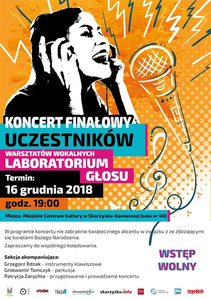 Koncert Finałowy uczestników warsztatów wokalnych – MCK – 16.12.2018