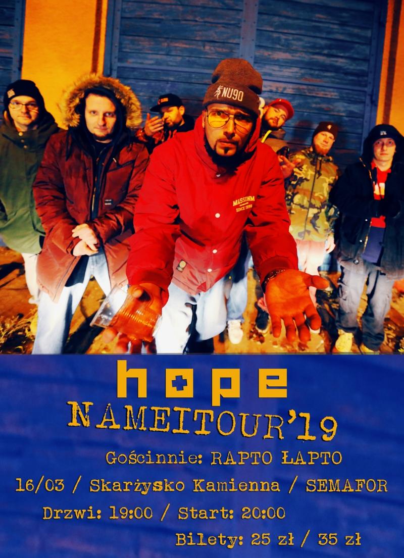 Hope + Rapto Łapto – Klub Semafor – 16.03.2019
