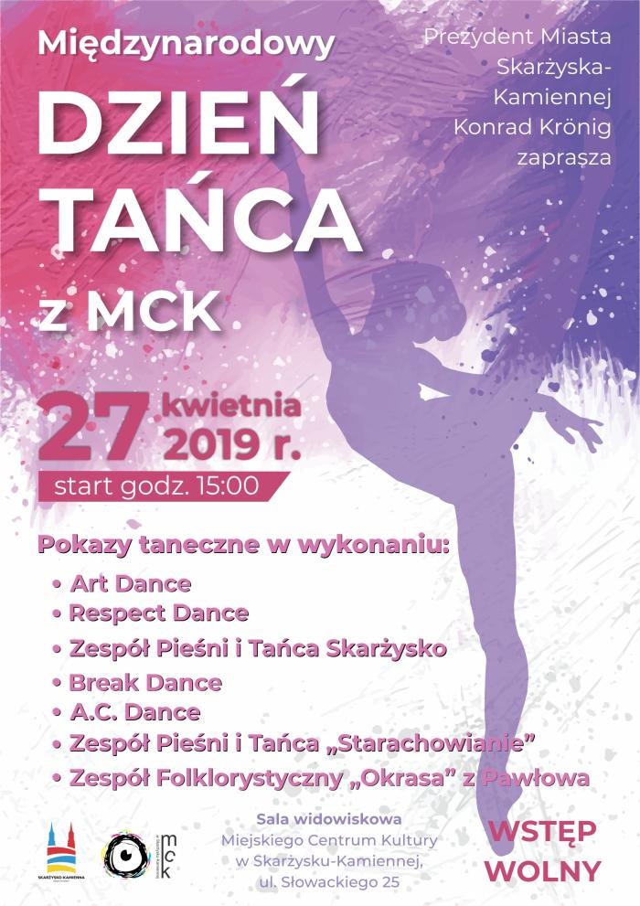 Międzynarodowy Dzień Tańca z MCK – 27.04.2019