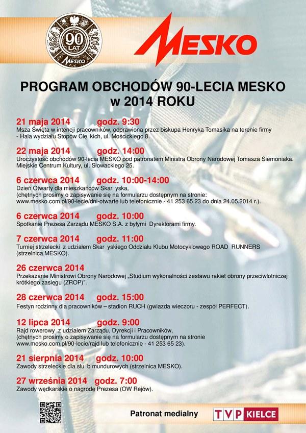 90-lecie MESKO – Skarżysko-Kamienna – 21.05–27.09.2014