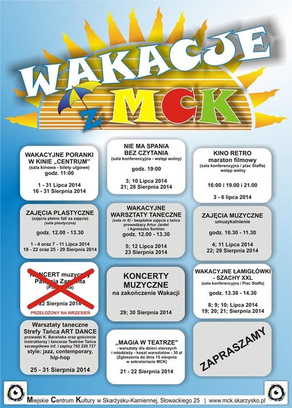 Wakacje 2014 w MCK