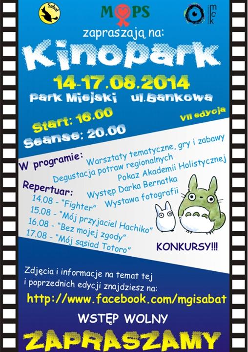 Kinopark – VII edycja – Park Miejski – 14-17.08.2014 r.