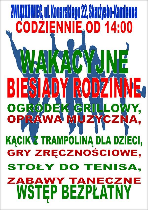 Wakacyjne Biesiady Rodzinne - Klub Kolejarza Związkowiec