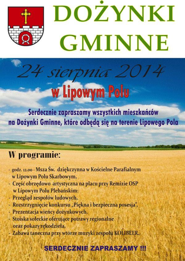 Dożynki Gminne - Lipowe Pole - 24.08.2014 r.