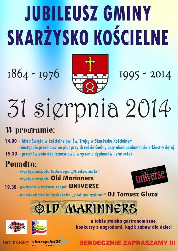 Jubileusz gminy Skarżysko Kościelne – 31.08.2014 r.