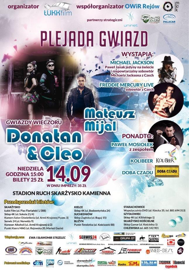 Plejada Gwiazd – Donatan & Cleo – stadion Ruchu – 14.09.2014