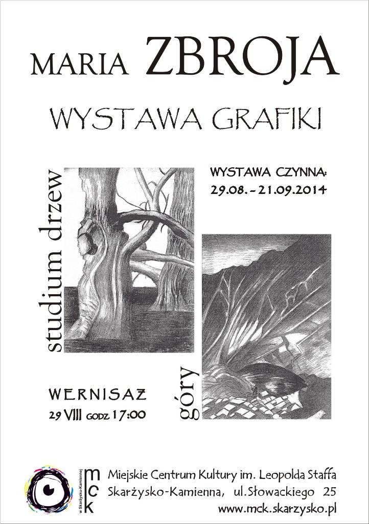 Wystawa grafiki Marii Zbroi – MCK – 29.08–21.09.2014 r.