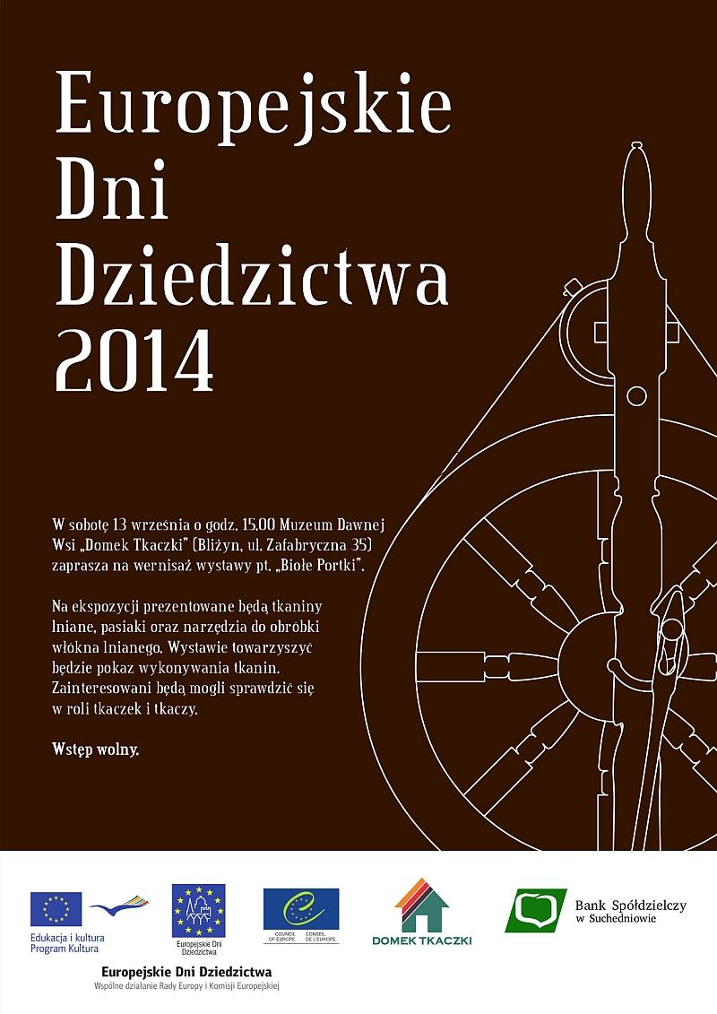 """Europejskie Dni Dziedzictwa 2014 – wernisaż wystawy """"Biołe Portki"""" – Bliżyn – 13.09.2014 r."""