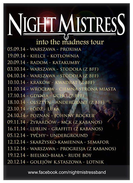 Night Mistress – Klub Semafor – 12.12.2014 r.