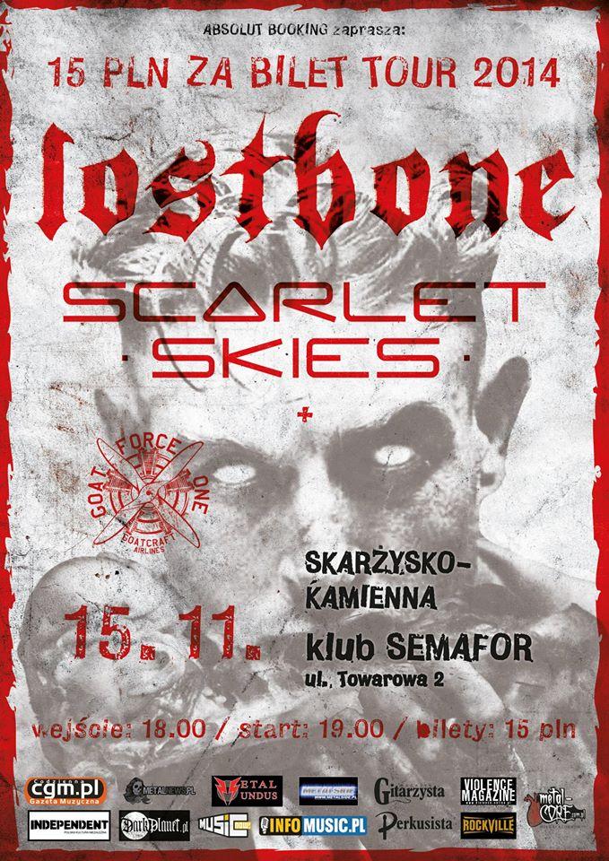 Lostbone + Scarlet Skies + Goat Force One – Klub Semafor – 15.11.2014 r.