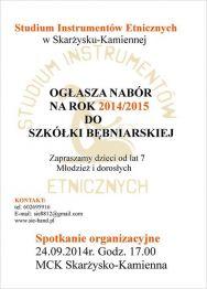 Nabór do szkółki bębniarskiej na rok szkolny 2014/2015