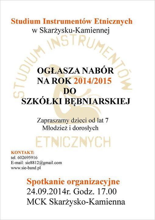 Nabór do szkółki bębniarskiej na rok szkolny 2014/2015 - MCK - 24.09.2014 r.