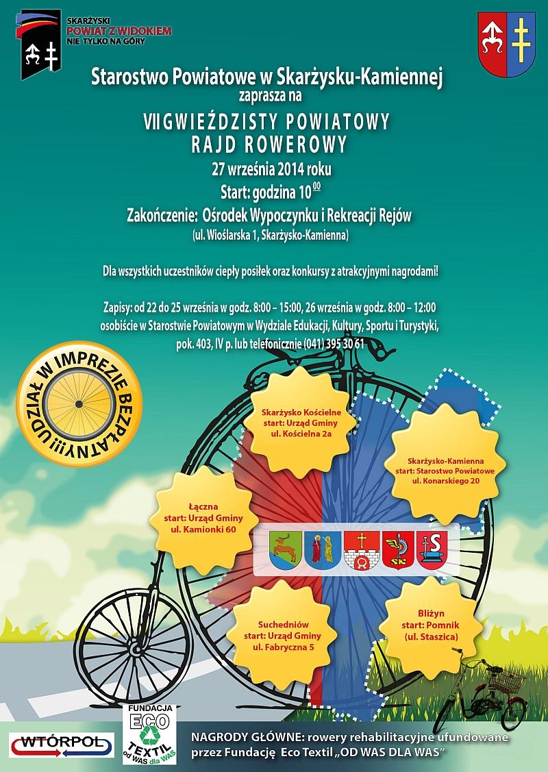 VII Gwieździsty Powiatowy Rajd Rowerowy – Powiat skarżyski