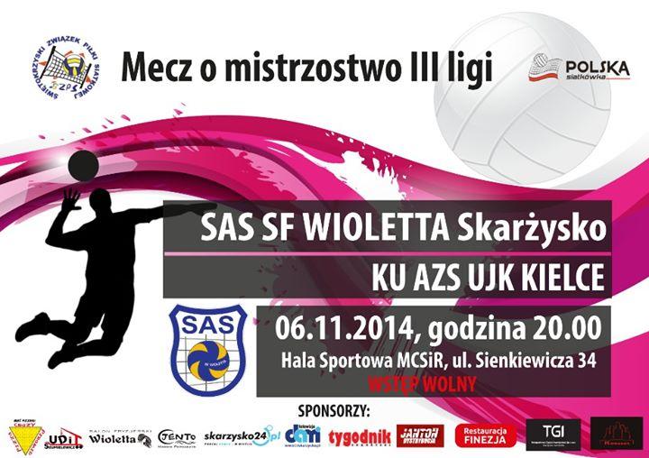 SAS SF Wioletta Skarżysko-Kamienna – KU AZS UJK Kielce – MCSiR – 06.11.2014 r.