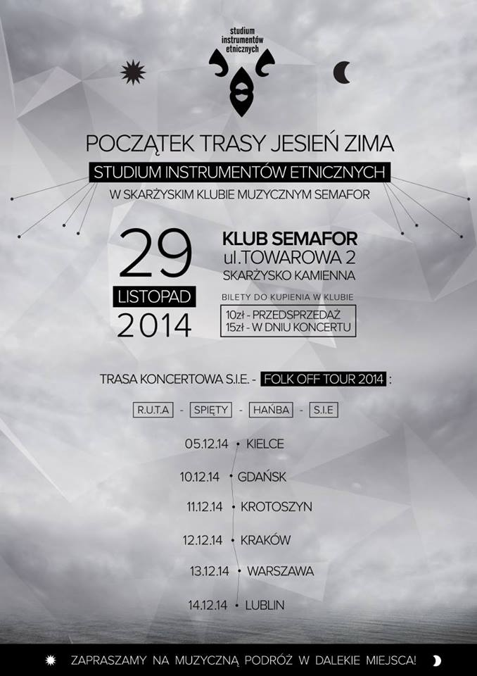 Studium Instrumentów Etnicznych – koncert – Klub Semafor – 29.11.2014 r.